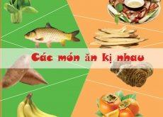 Top 9 Loại thực phẩm kỵ nhau, các mẹ nên lưu ý